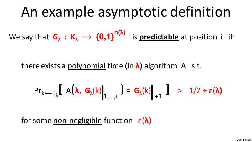 An example asymptotic definition