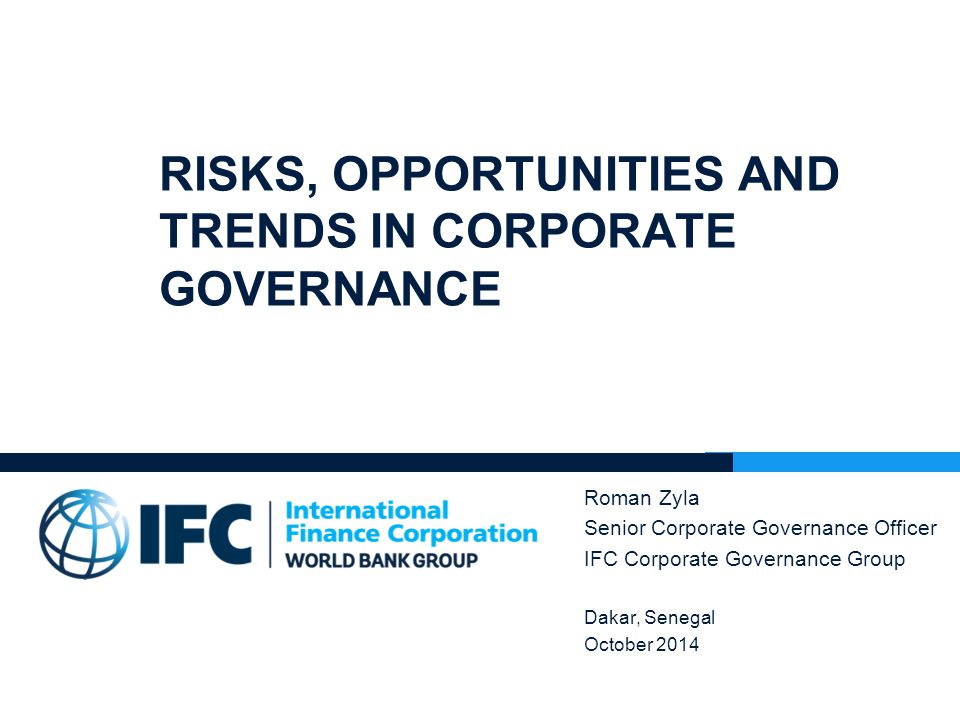 Risks, opportunities and trends in corporate governance