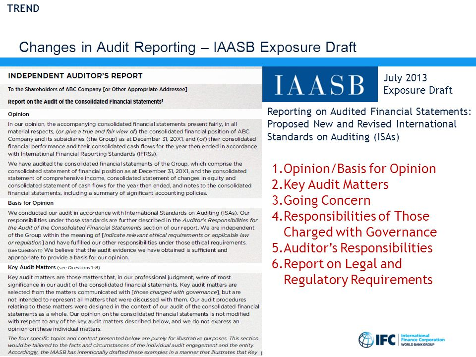 Changes in Audit Reporting – IAASB Exposure Draft