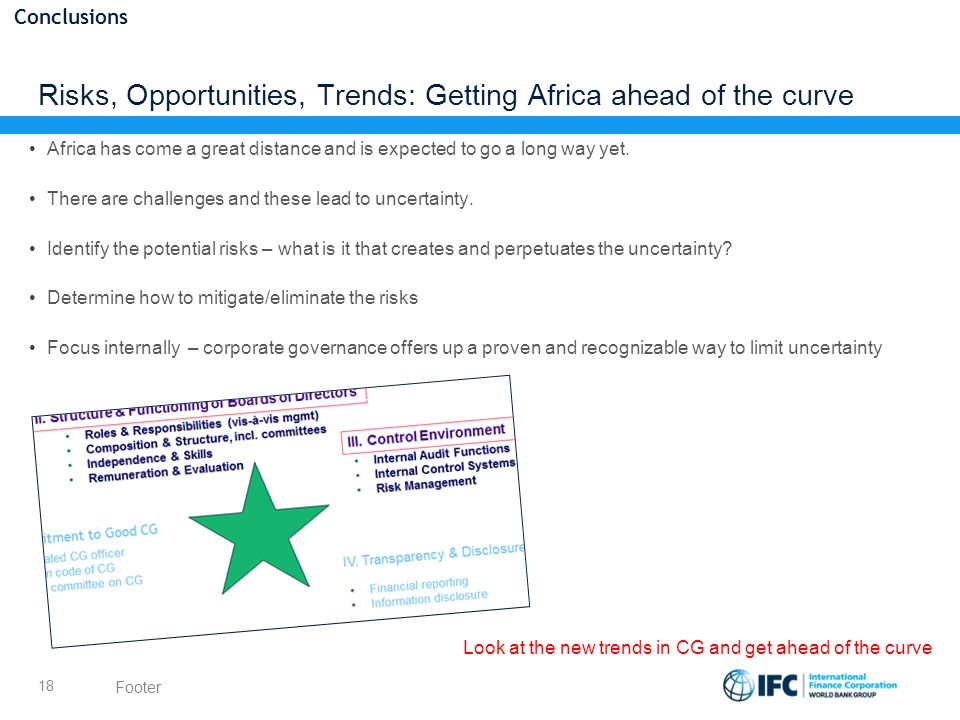 Risks, Opportunities, Trends: Getting Africa ahead of the curve