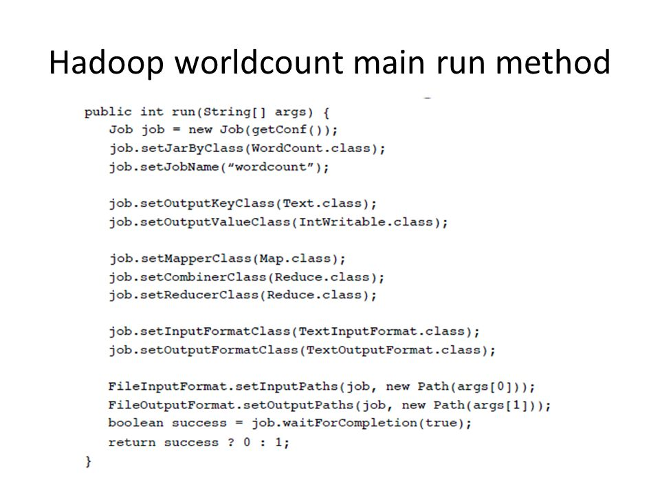 Hadoop worldcount main run method