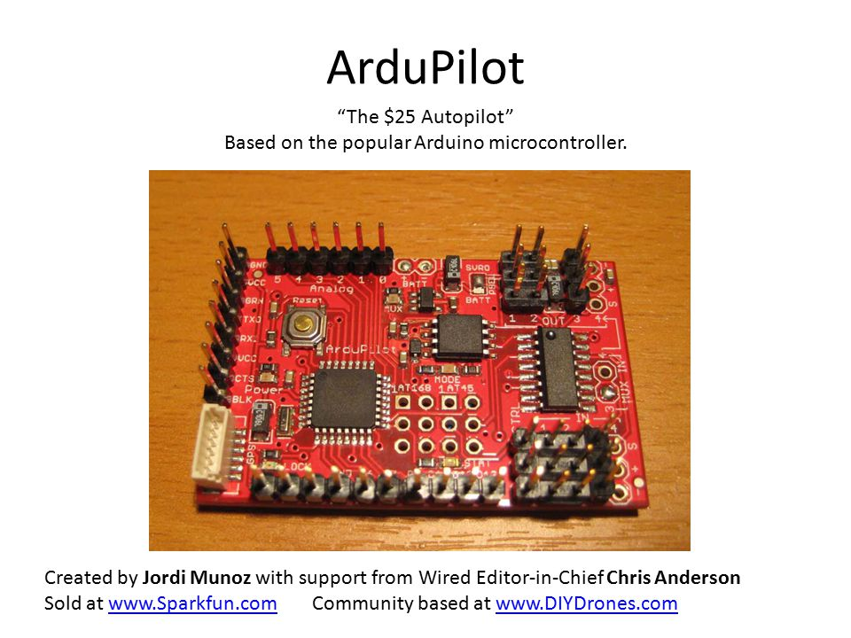 Based on the popular Arduino microcontroller.
