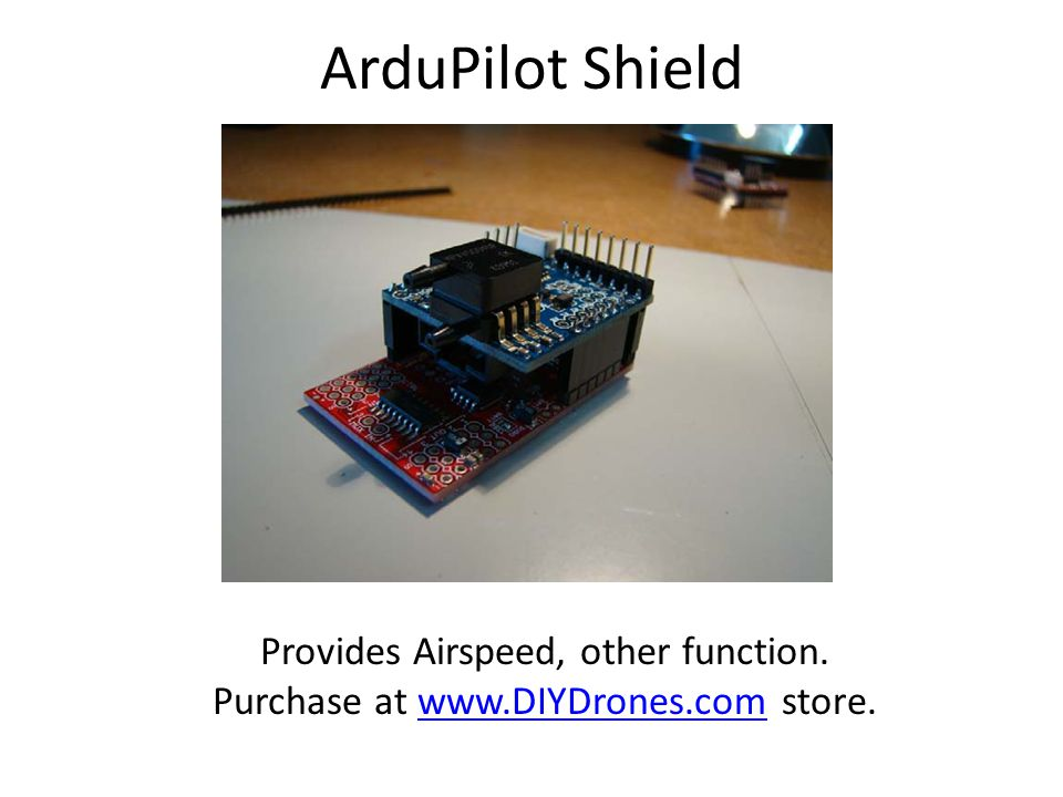 ArduPilot Shield Provides Airspeed, other function.