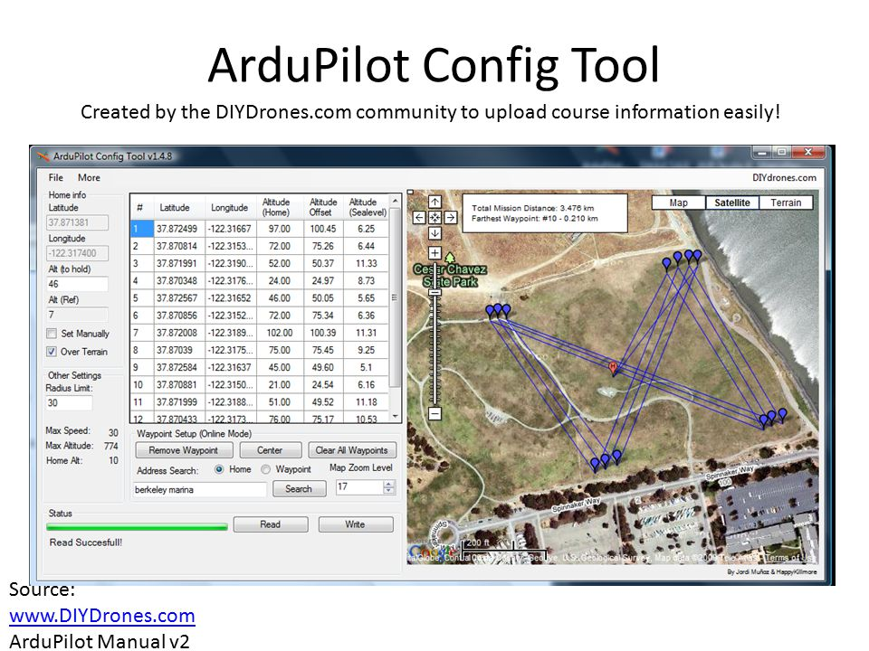 ArduPilot Config Tool Created by the DIYDrones.com community to upload course information easily!