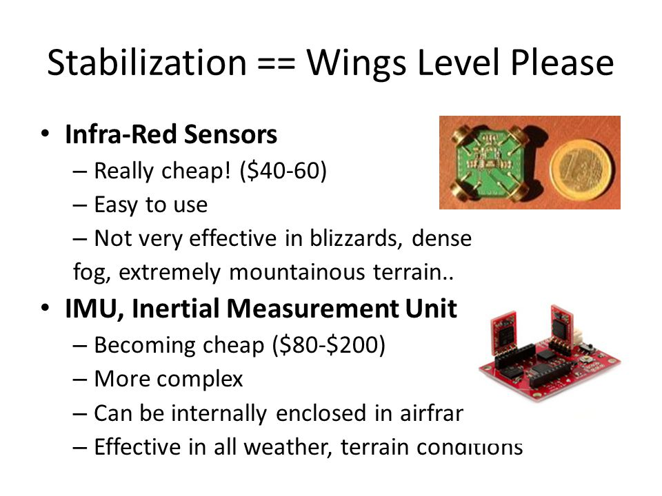 Stabilization == Wings Level Please