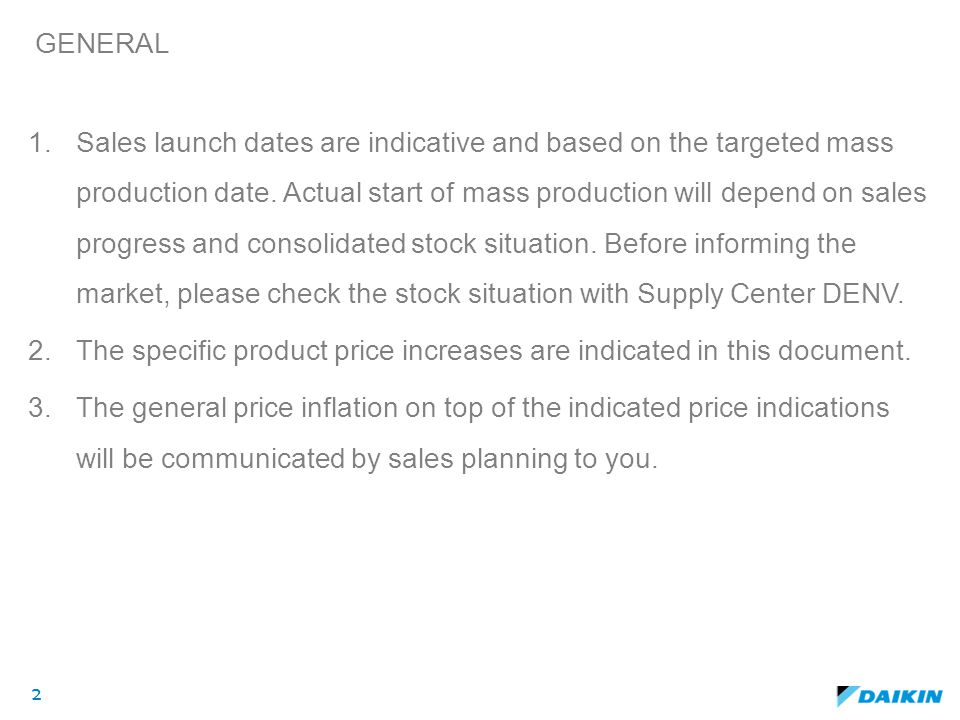 The specific product price increases are indicated in this document.