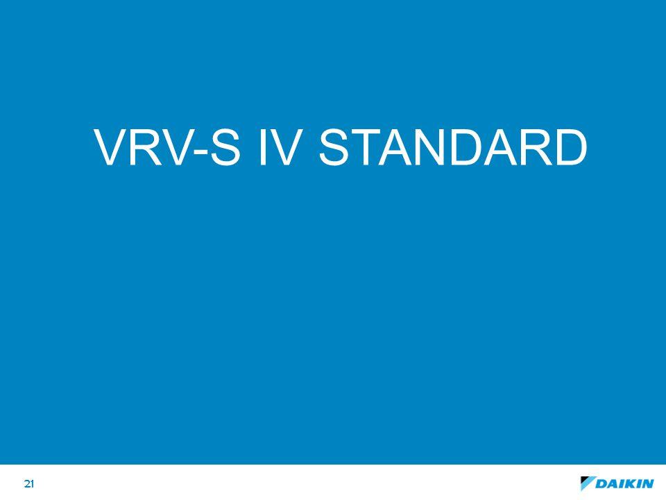 VRV-S IV standard Deze slide als optie houden, maar op HIDE zetten