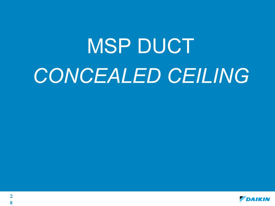 MSP duct conceALED CEILING