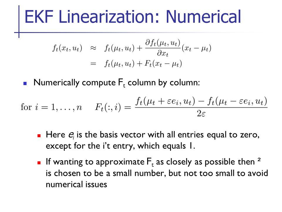 EKF Linearization: Numerical