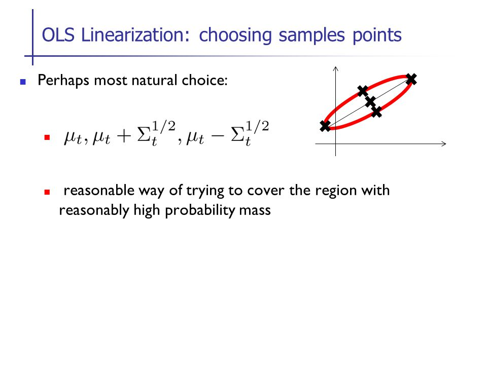 OLS Linearization: choosing samples points