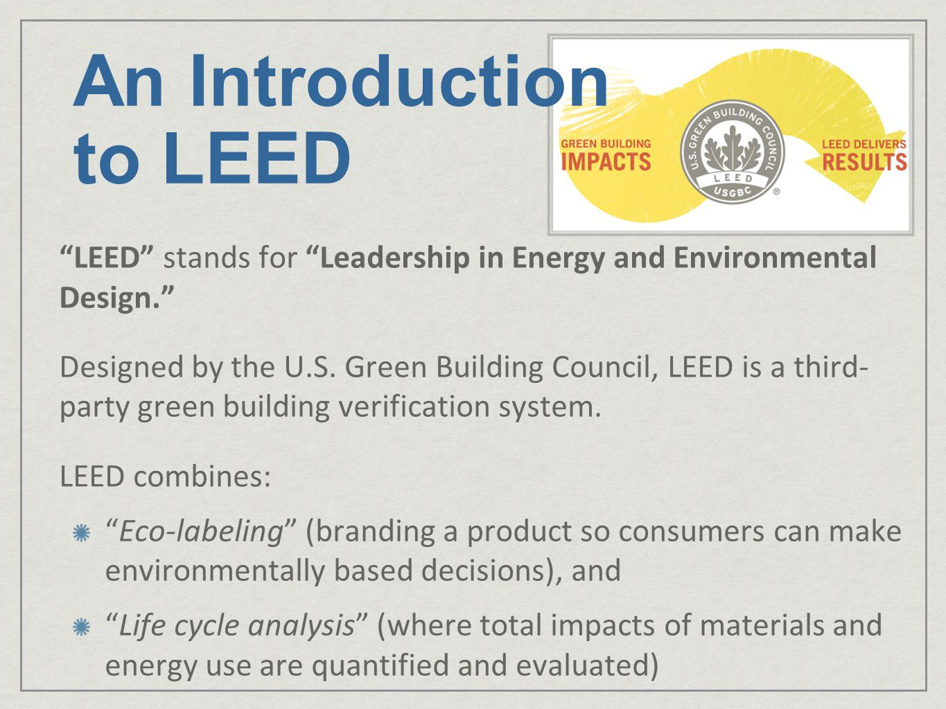 An Introduction to LEED