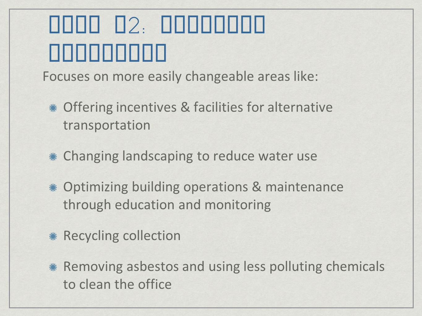 LEED v2: Existing Buildings