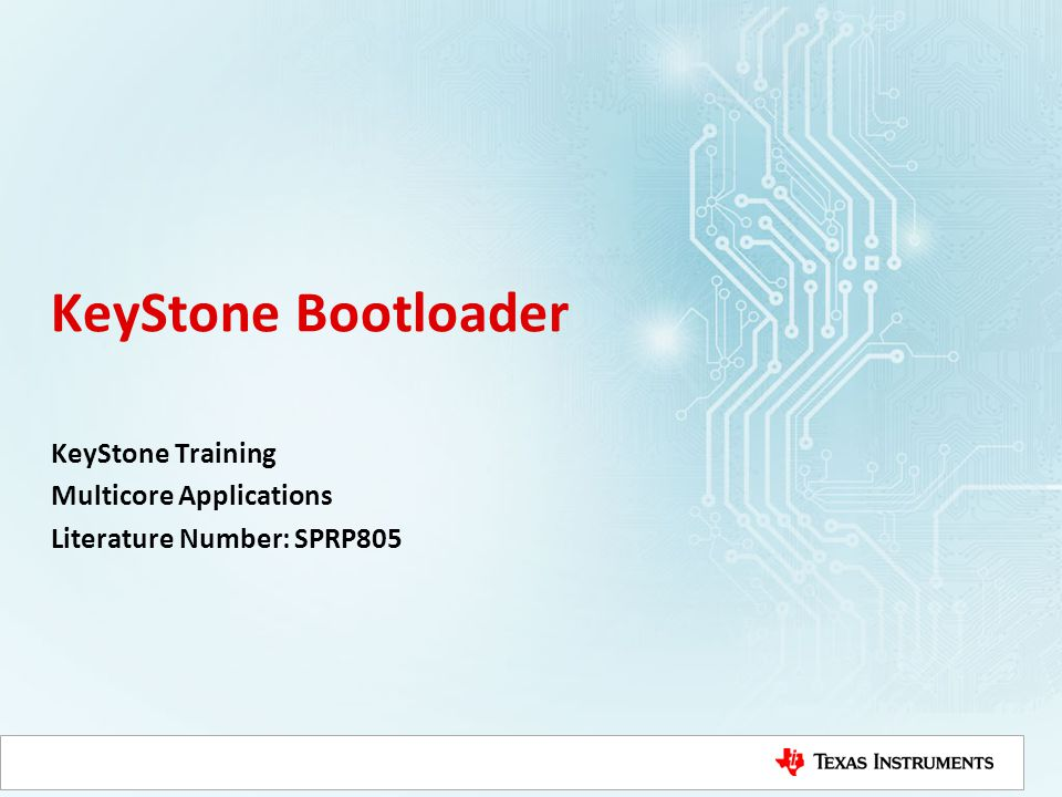 KeyStone Training Multicore Applications Literature Number: SPRP805