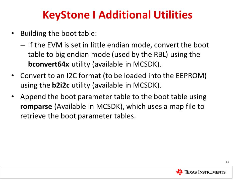KeyStone I Additional Utilities