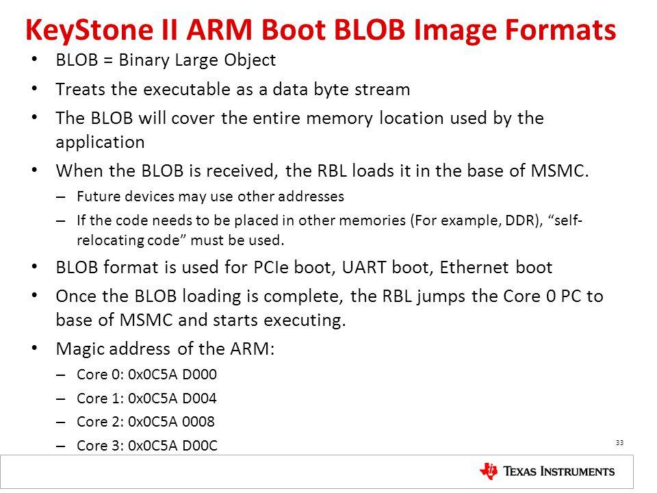 KeyStone II ARM Boot BLOB Image Formats