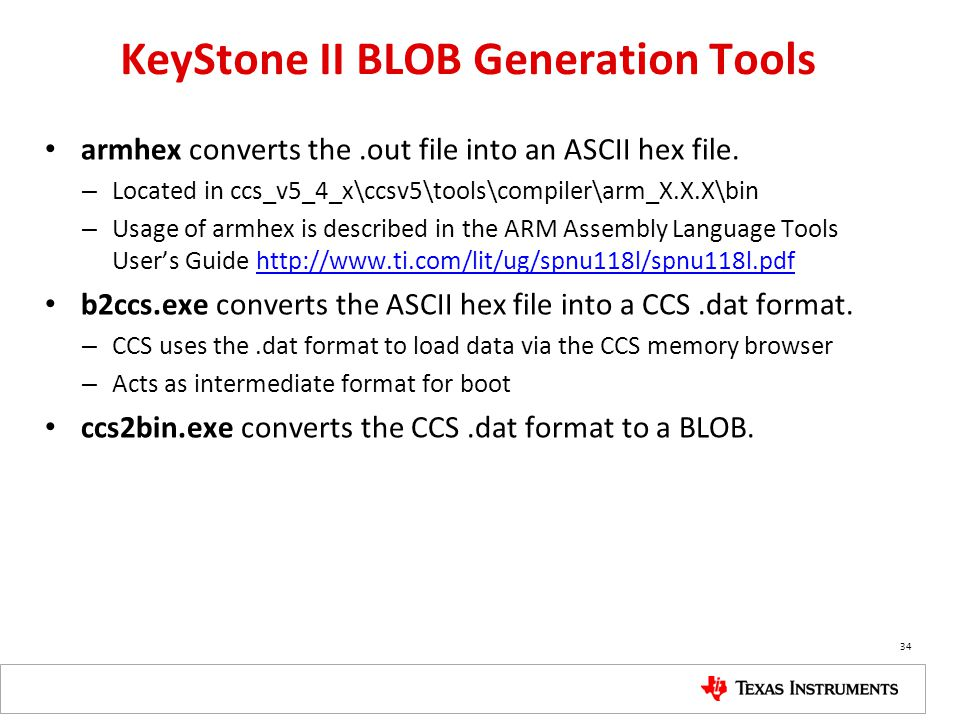 KeyStone II BLOB Generation Tools