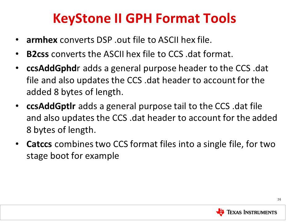 KeyStone II GPH Format Tools