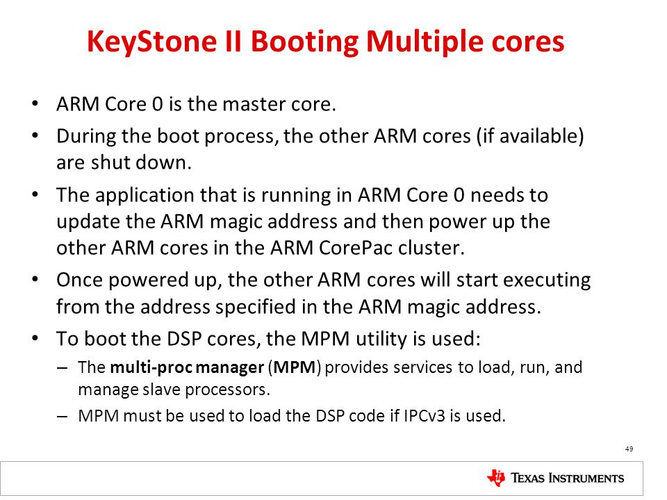 KeyStone II Booting Multiple cores
