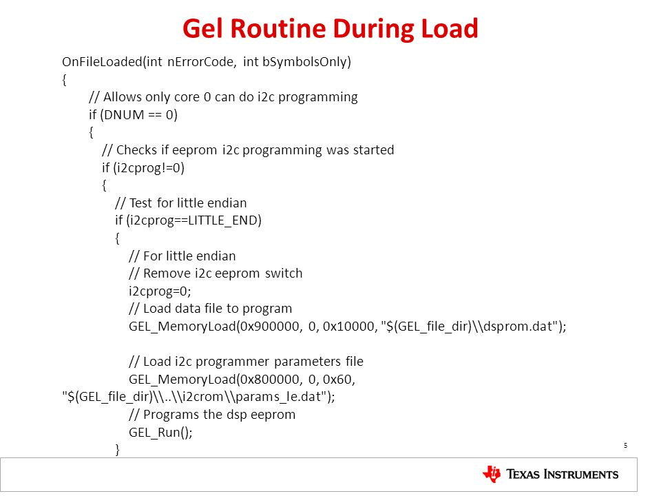 Gel Routine During Load