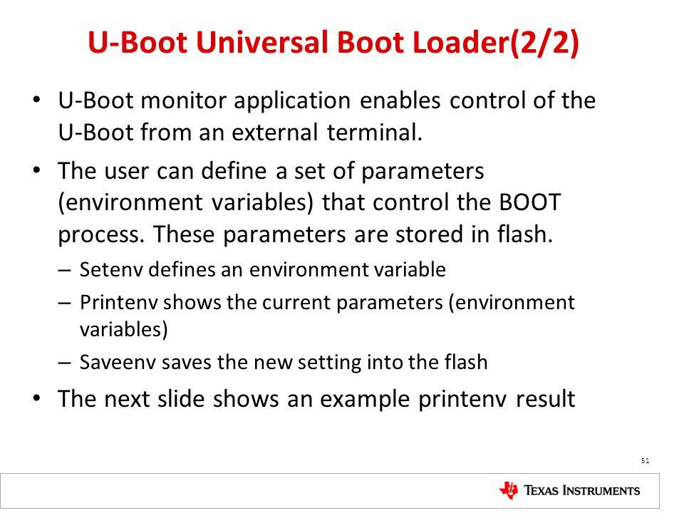U-Boot Universal Boot Loader(2/2)