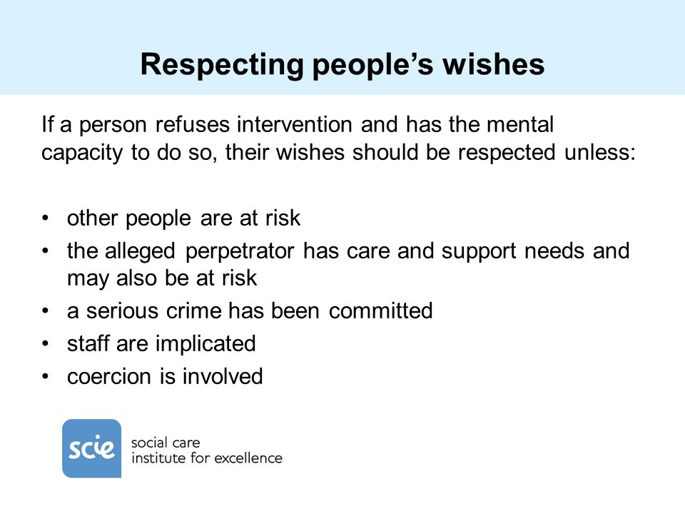 Respecting people's wishes
