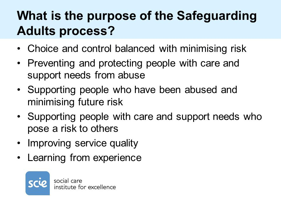 What is the purpose of the Safeguarding Adults process