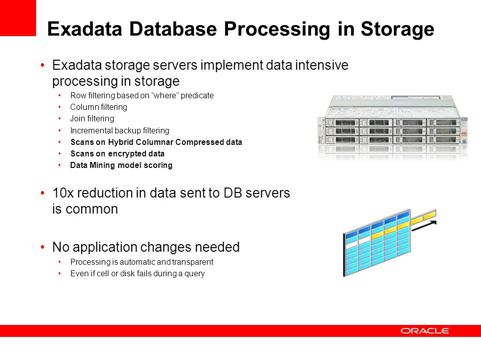 Exadata Database Processing in Storage