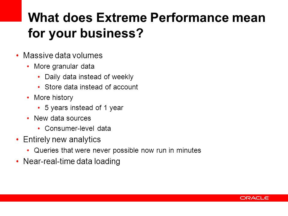 What does Extreme Performance mean for your business