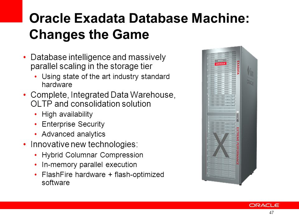 Oracle Exadata Database Machine: Changes the Game