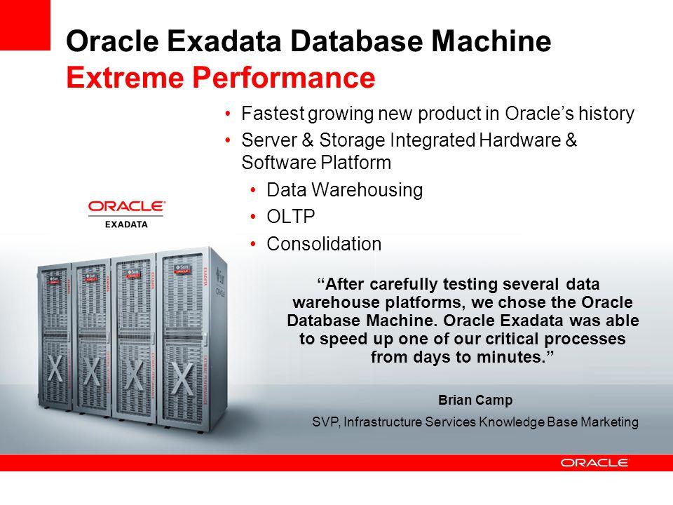 Oracle Exadata Database Machine Extreme Performance