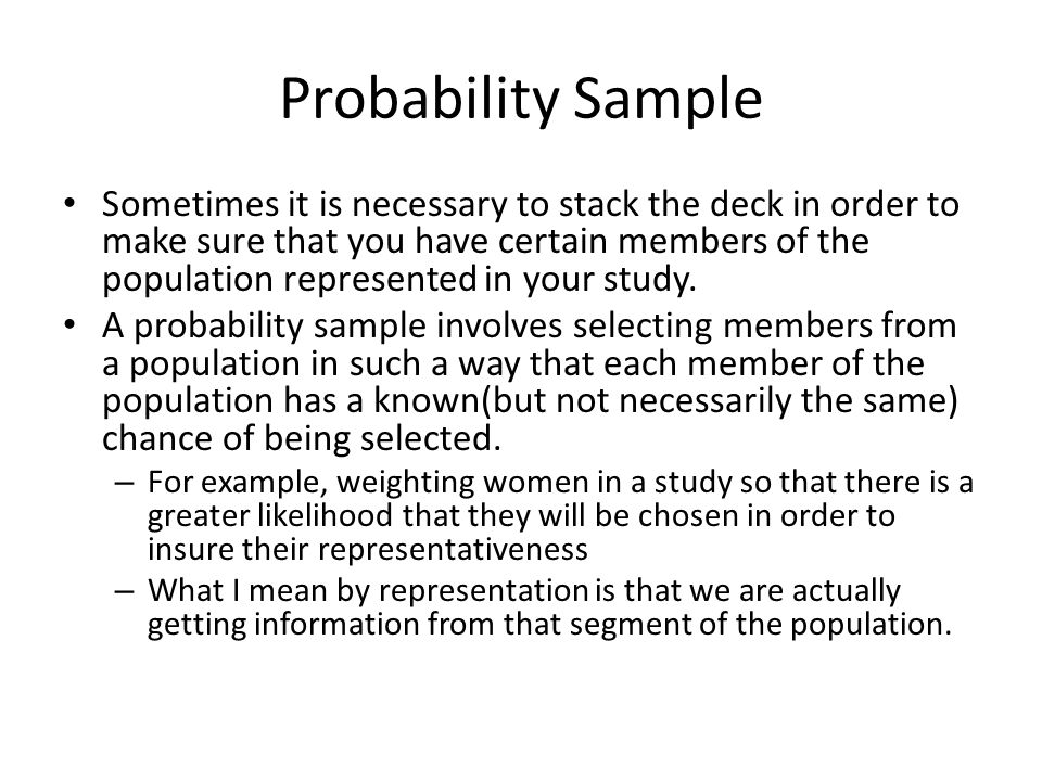 Probability Sample