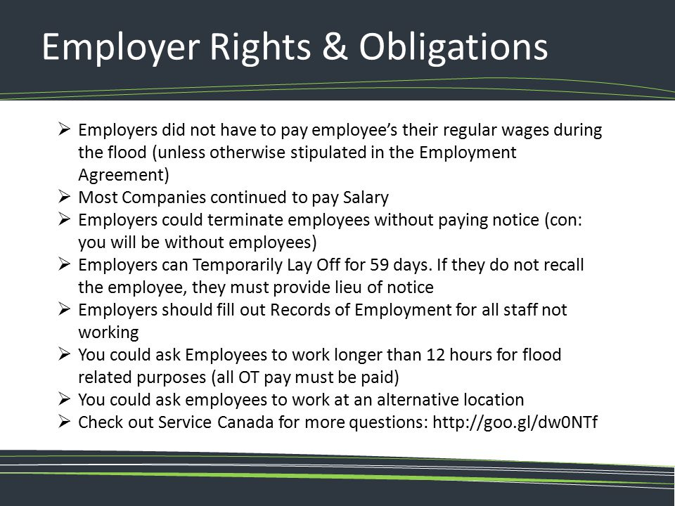 Employer Rights & Obligations