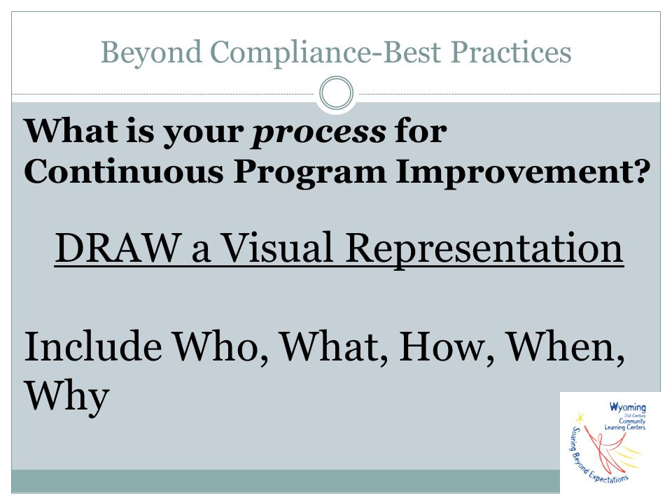 Beyond Compliance-Best Practices