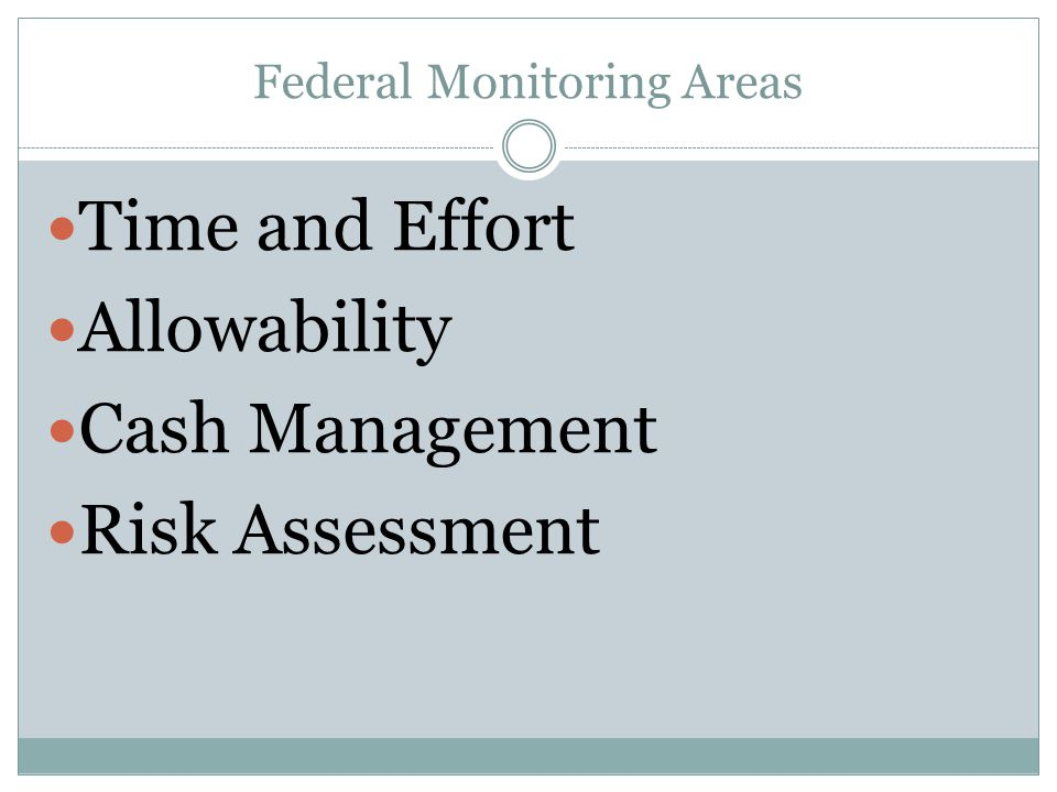 Federal Monitoring Areas