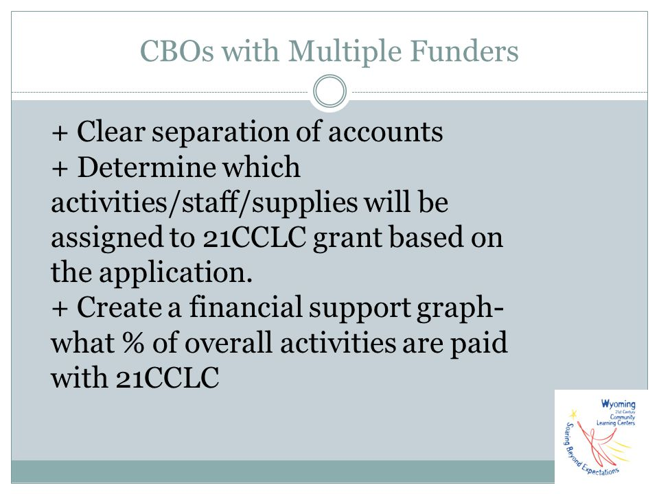 CBOs with Multiple Funders
