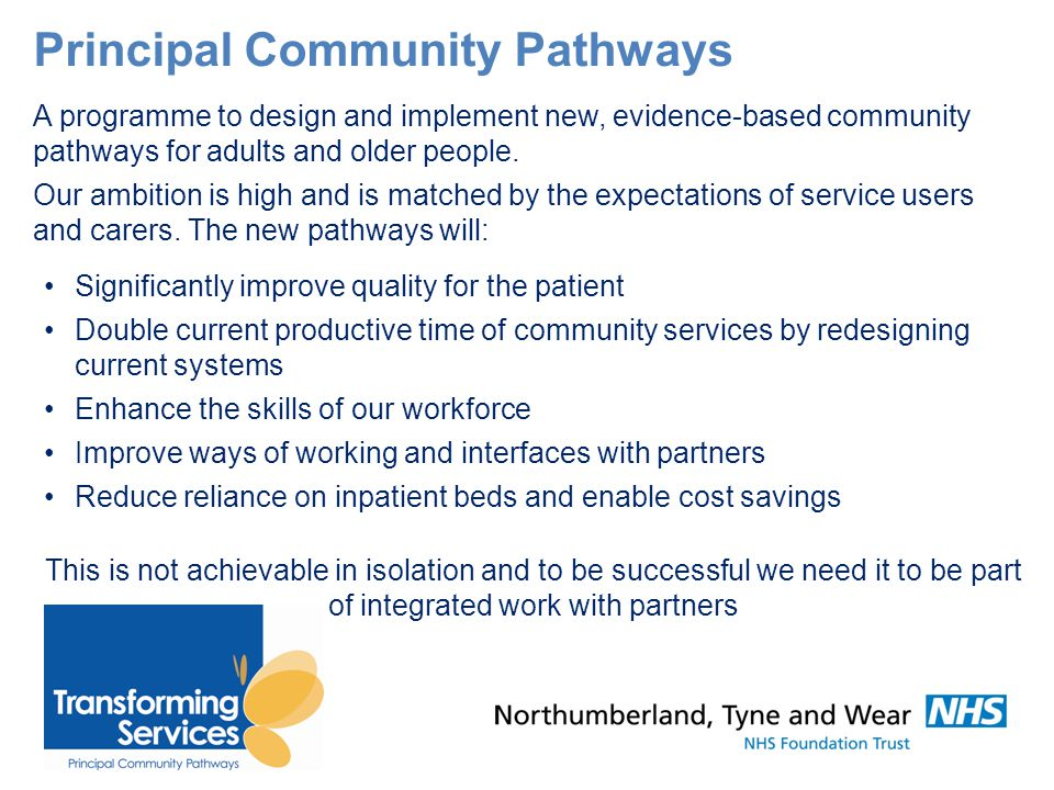 Principal Community Pathways