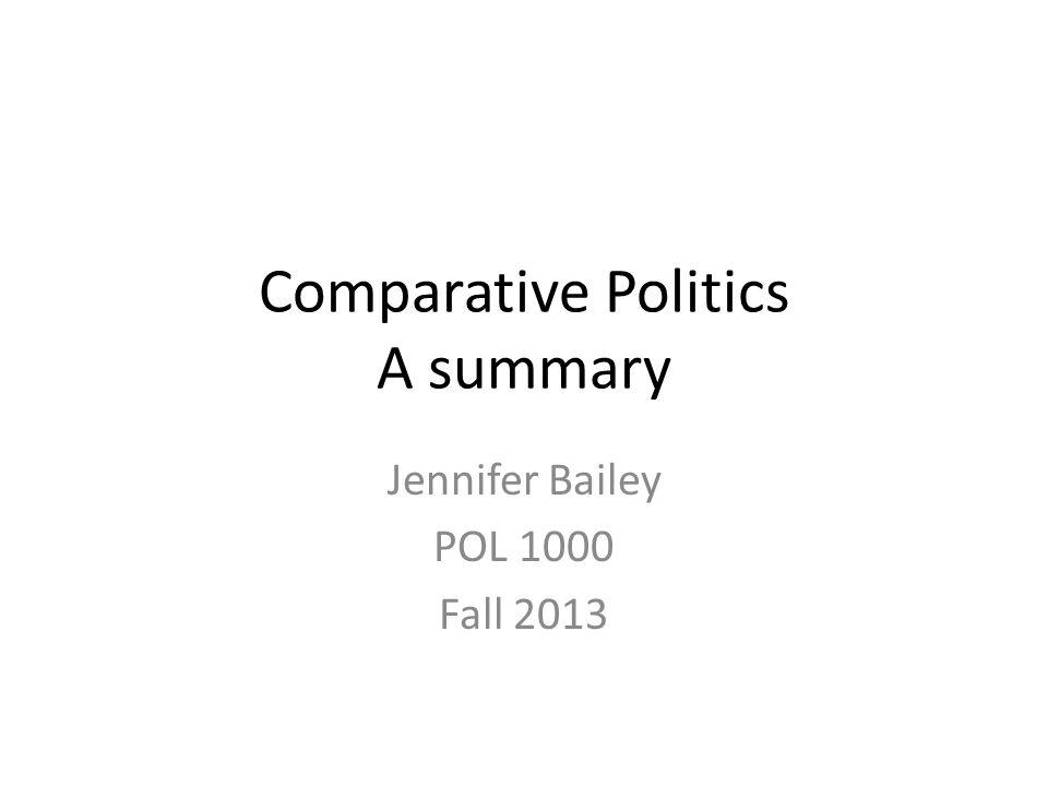 Comparative Politics A summary