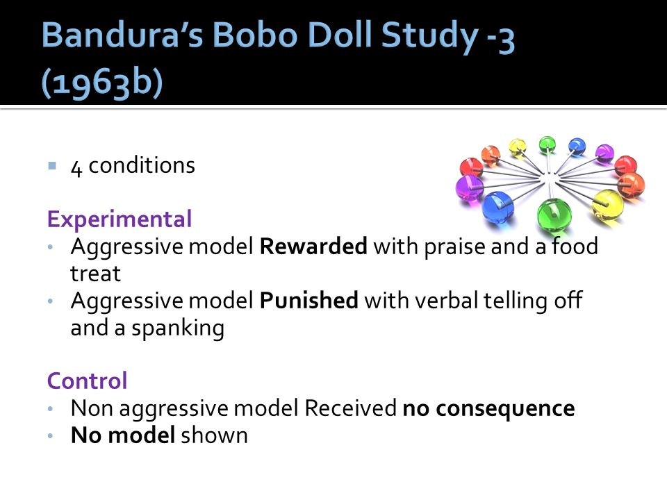 Bandura's Bobo Doll Study -3 (1963b)