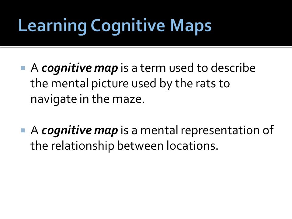 Learning Cognitive Maps