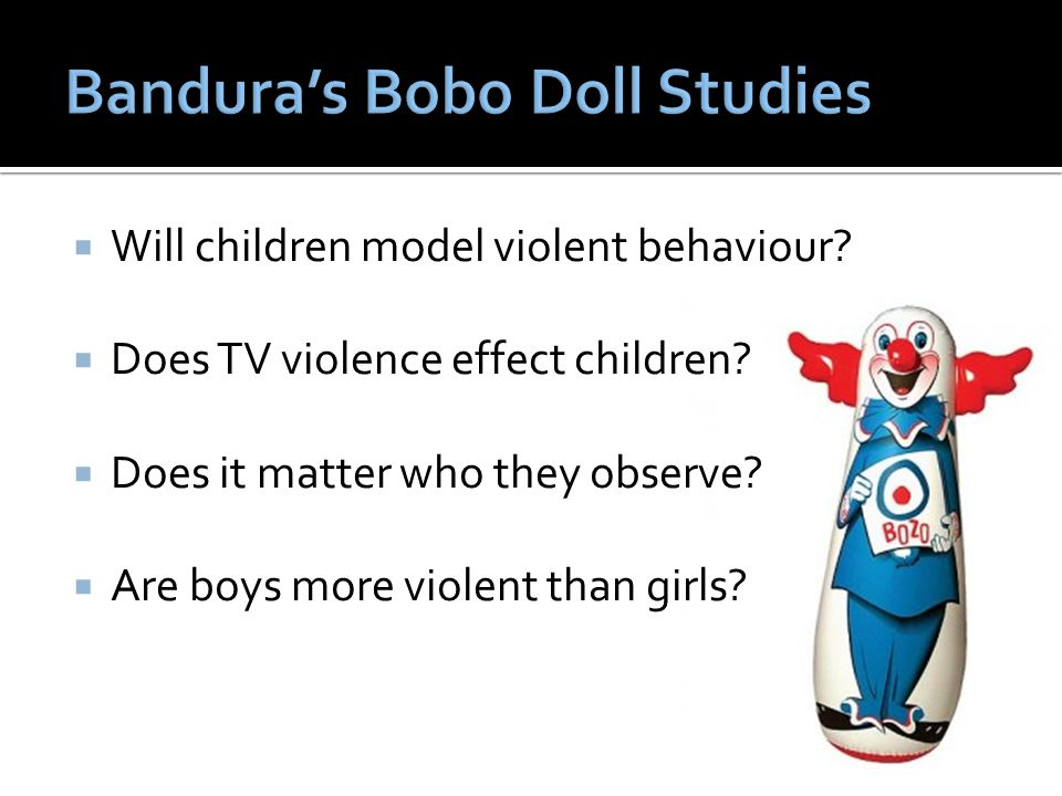 Bandura's Bobo Doll Studies