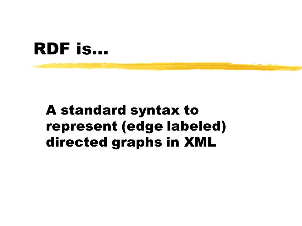 A standard syntax to represent (edge labeled) directed graphs in XML