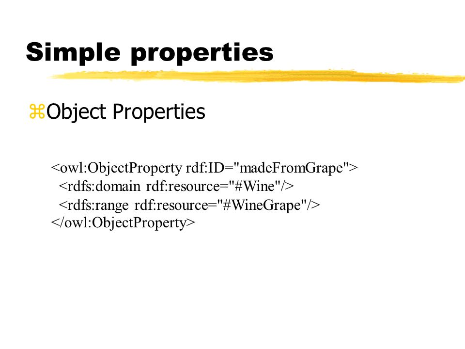 Simple properties Object Properties