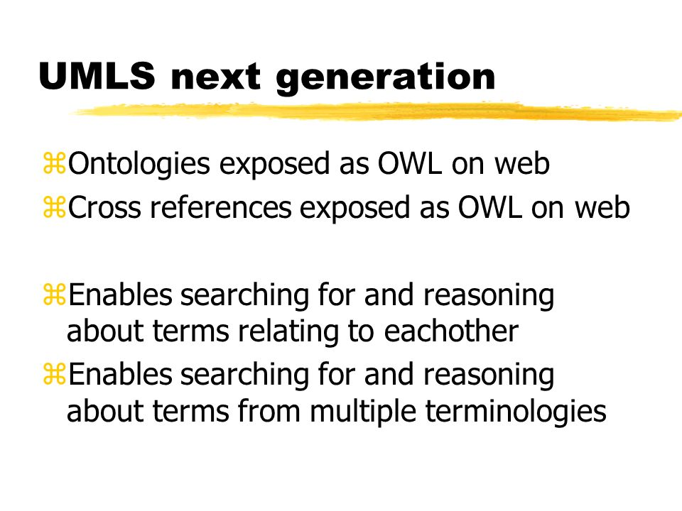 UMLS next generation Ontologies exposed as OWL on web