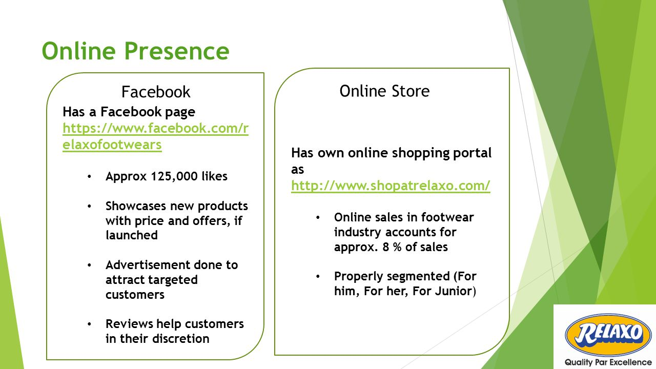 Online Presence Facebook Online Store