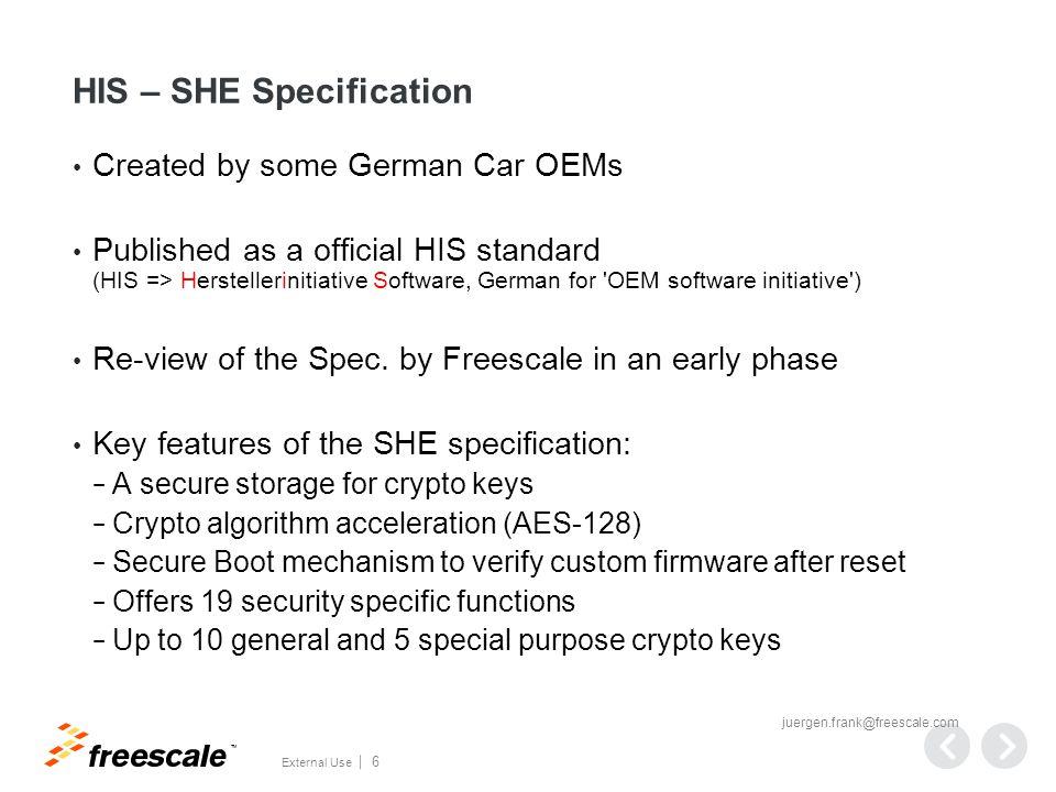 EVITA Security Modules