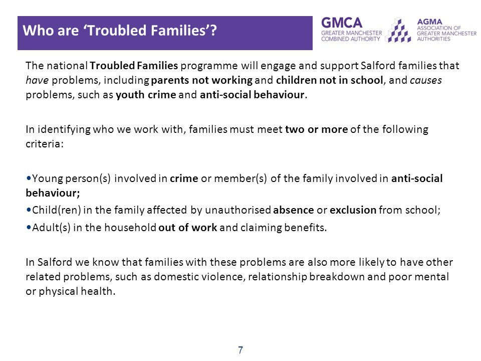 Who are 'Troubled Families'