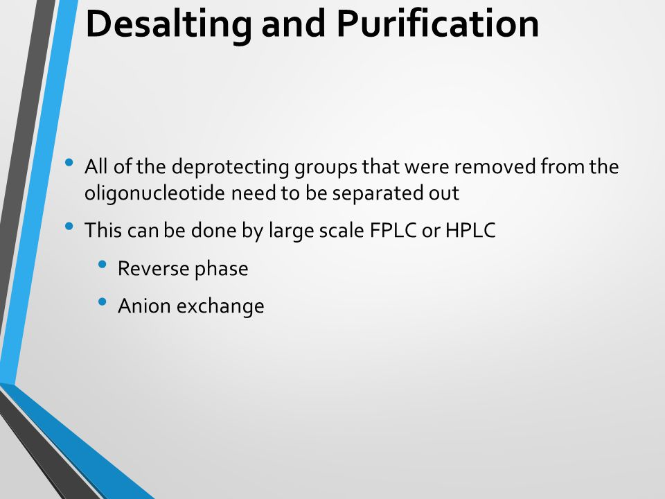 Desalting and Purification