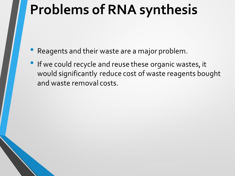 Problems of RNA synthesis