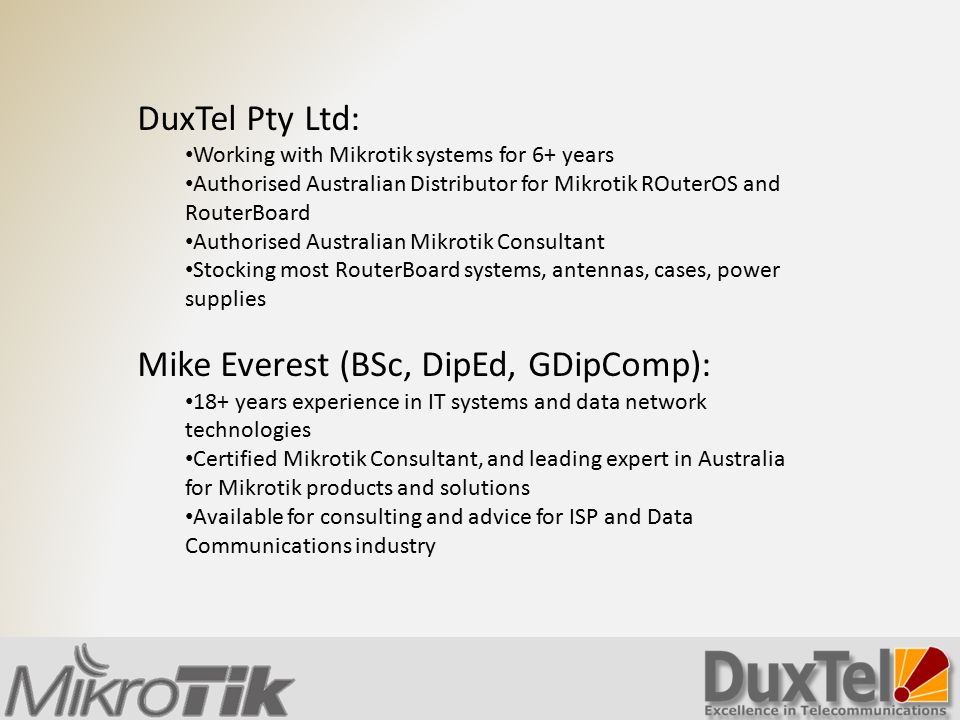 Mike Everest (BSc, DipEd, GDipComp):