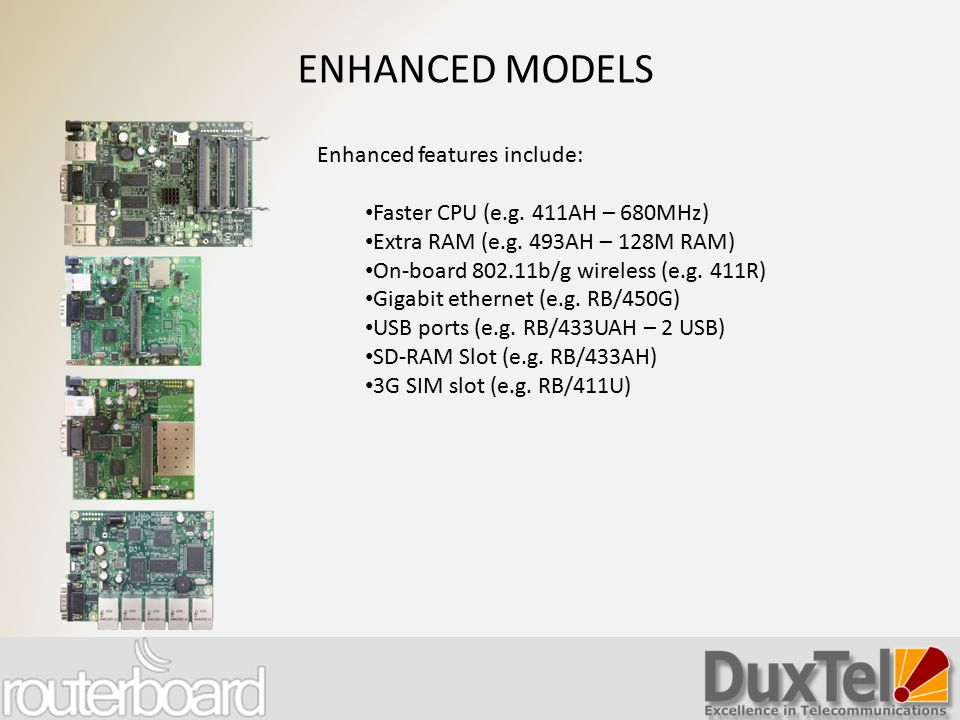 ENHANCED MODELS Enhanced features include: